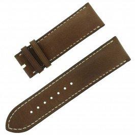 Chopard 23–22mm Dunkelbraun Echt Leder Herren-Armbanduhr Band