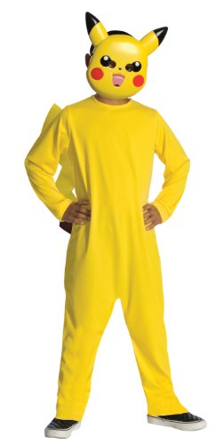 Kostüm Klassischer Pokemon Pikachu für Kinder 110/122 (5-7 (Pokemon Kinder Kostüme)