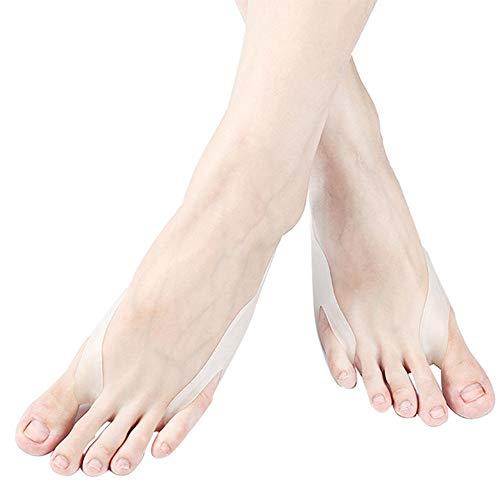 GEPFD-TOE Zehenspreizer Hallux Valgus Bandage - Silikon Zehentrenner Korrektur Schiene Zehenspreizer großer Zeh mit - Fuß Pflege - Geeignet für Damen, Herren(1 Paar) - Gelenk Großer Schmerz Zeh