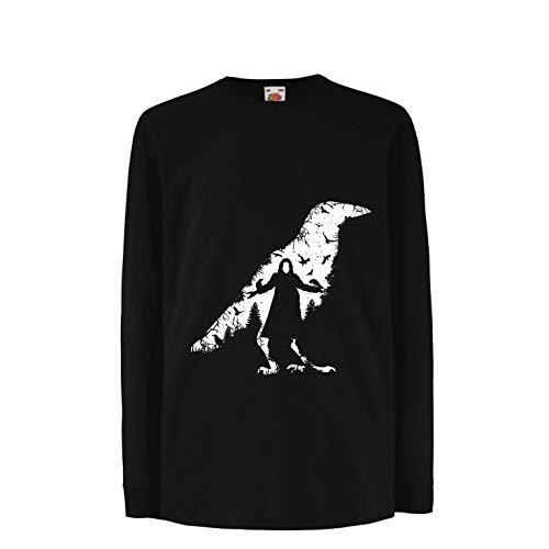 lepni.me Kinder-T-Shirt mit Langen Ärmeln Die Krähe - die Toten und die verlorenen Seelen (3-4 Years Schwarz Mehrfarben)