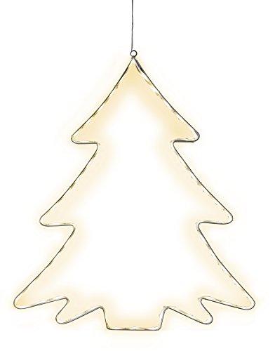 Star Silhouette Lumiwall, 60 warmweisse LED, Metall, Silber, 1 x 45 x 50 cm