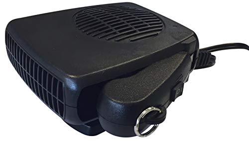 Guilty Gadgets ® Auto-Heizung für die Windschutzscheibe, 12 V, 200 W, für Autos, Trockner, Entfroster, 2-in-1, Warmer Ventilator, für Armaturenbrett, tragbar