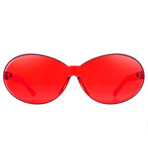 Plzlm Unisex Sonnenbrille Resin Rahmen Gläser Sun-Glas-UV400 Schutz Shades Süßigkeit-Farben-Brillen