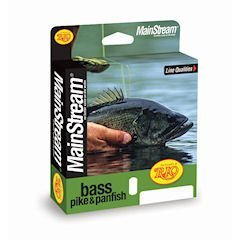 Rio Mainstream Bass/Pike/Panfish Fly Line WF8F Yellow by Rio Brands