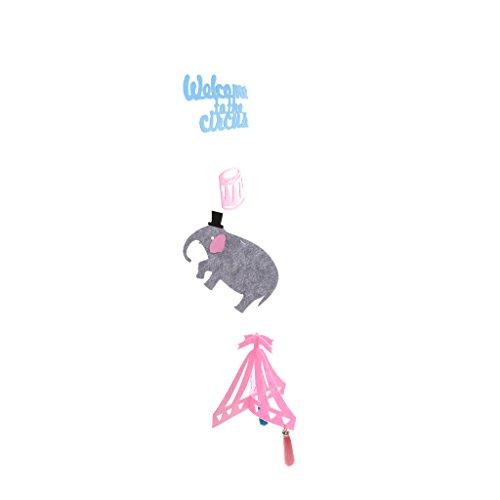 u Zirkus Hängen Banner Fühlte Elefanten Wind Home Party Decor Chimes ()