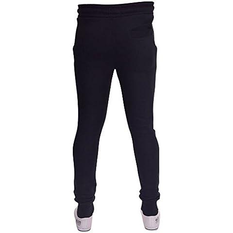 Crosshatch da uomo, pesanti, Jogging, con gamba larga pile Pantaloni a pinocchietto