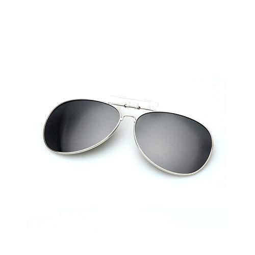 t-Sonnenbrillen, Vintage Sonnenbrillen, Mens Polarisiert Clip On Sunglasses Men Women Pilot Sun Glasses UV400 Clip Myopia Eyeglasses Night Driving Glasses Black ()