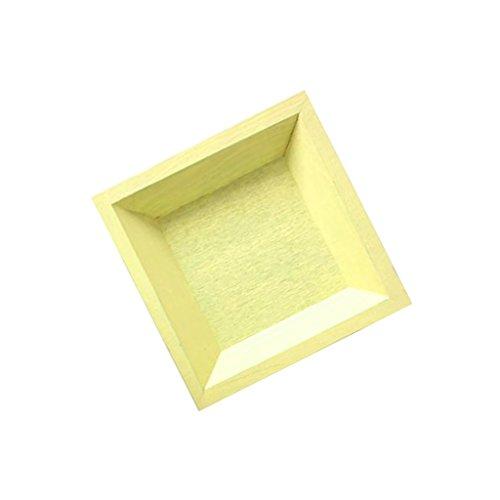 D DOLITY Servierplatten/Dessertteller, Obst Teller für Klein Stoff - Gelbes Quadrat (Klein) (Gelbe Quadrat Teller)