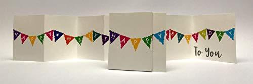 Oh My Designs XXL Lange Grußkarte 60 Geburtstag Karte Auffaltbar Fahnen 70x12cm (Geburtstag 60 Design Ideen)