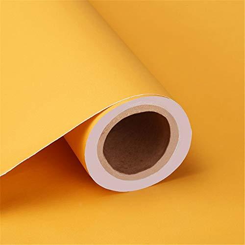 60 cm * 5 mt solide matt pvc diy selbstklebende wasserdichte wand papier wandaufkleber möbel renovierung schublade wohnzimmer dekorative, gelb 0,6 mt x 5 mt (Gelbe Wohnzimmer Möbel)