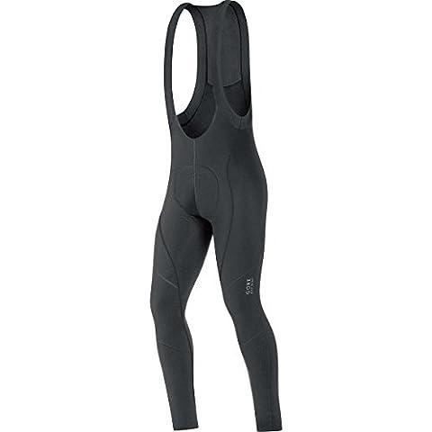 Gore Bike Wear Element 2.0 Thermo+ - Culote con tirantes para hombre, color negro, talla S