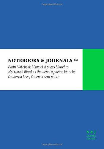 Quaderni Notebooks & Journals, Extra Large, Bianchi, Blu, Soft Cover: (17.78 x 25.4 cm)(Taccuino appunti,Taccuino di viaggio)