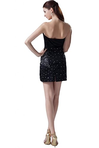 Sunvary sexy spacco posteriore senza spalline colonna mini cocktail party Dresses Black