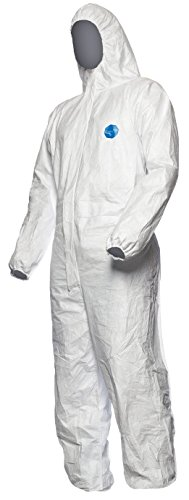 DuPont Tyvek 400 Dual | Chemical Protective Clothing, Category III, Type 5 and 6| Tyvek Front | SMS Back | White | Size XXL