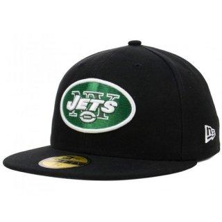 a68be2cb15ccf New Era 5950 Casquette de terrain NFL NY Jets pour homme Noir noir 7