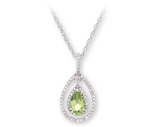 Theia Pendentif Argent - 925/1000 Diamant Femme Péridot