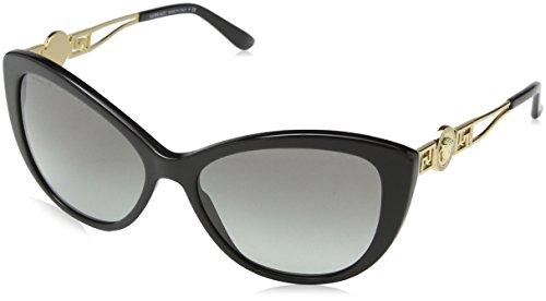 Versace Unisex Sonnenbrille VE4295 GB1/11, Schwarz (Black GB1/11), One size (Herstellergröße: 57)