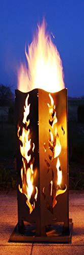 Feuersäule Stahl Flamme II Made in Germany