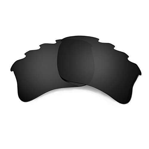 HKUCO Mens Replacement Lenses For Oakley Flak Jacket XLJ-Vented Sunglasses Black Polarized