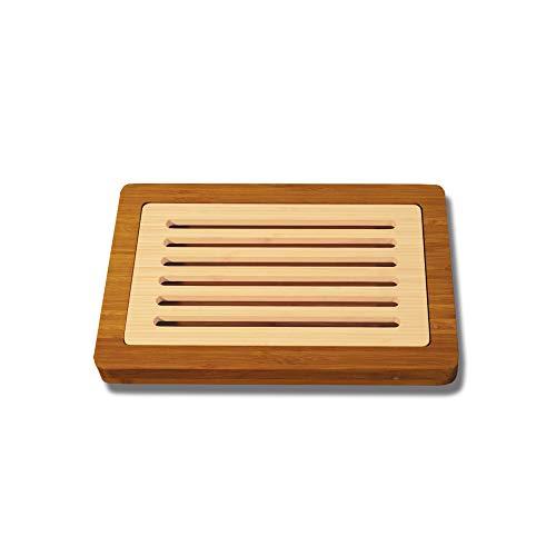 Unbekannt Totally Bamboo BA207601 Brot-Schneidbrett mit Krümelfach 37 x 24 cm, Bicolore (Schneidebrett Totally Bamboo)