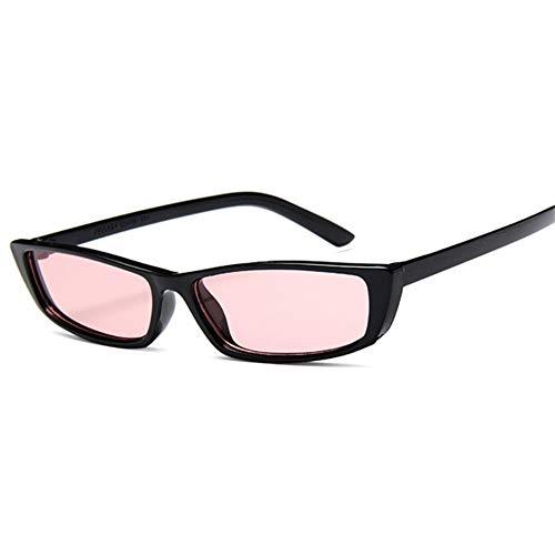 MOJINGYAN Sonnenbrillen,Frauen, Die Kleine Katze Auge Sonnenbrille Vintage Design Rechteck Sonnenbrille Männlich Weiblich Fashion Frame Retro Gläser Uv 400 Schwarz Rot
