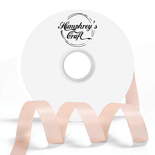 Humphrey's Craft Doppelseitiges Satinband, 100% Polyester, 50 m Petal Peach (Peach Doppelseitiges Satin-band)