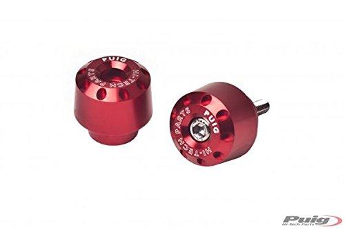PUIG - 6820R : contrapesos Cortos Aluminio Honda Color Rojo Honda ->...