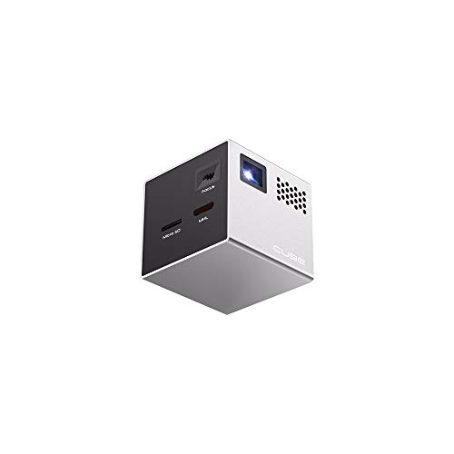 RIF6 Proyector para el móvil Cube de 5 cm con más de 20 000 de Horas de luz LED y Pantalla de 120...