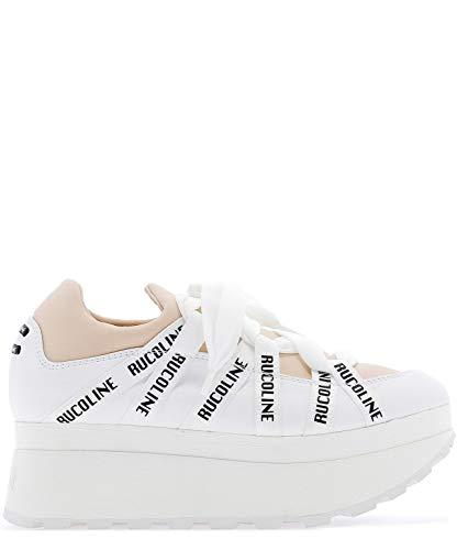 710583680 Tacón Ruco Mujer Zapatos Beige Line De Cuero ynwvmP08ON