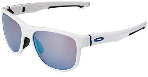 Oakley Herren Crossrange R 935905 57 Sonnenbrille, Weiß (Polished White/Prizmsnow),