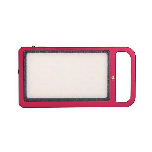 Colorful Videoleuchte LED Mini Dimmbare Videolicht 3000K-6500K Bi-Color Kameralicht, Videolampe Klein CRI 96 Kamera Licht Dauerlicht Aluminium Fotolampe für DSLR Camcorder Sony Canon Nikon (Rot)