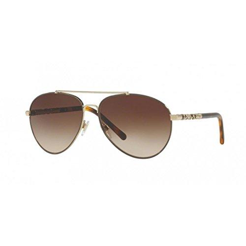 89 Sonnenbrille, Mehrfarbig (Gestell: helles goldbraun, Gläser: braun-verlauf 114513), Large (Herstellergröße: 58) ()