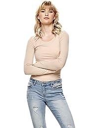 ONLY Damen Onllive Love New Ls O-Neck Top Noos Langarmshirt