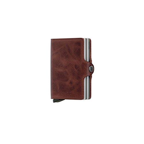 Secrid Wallets Twinwallet Vintage 10 cm brown (Herren Doppel-id Geldbörse Leder)