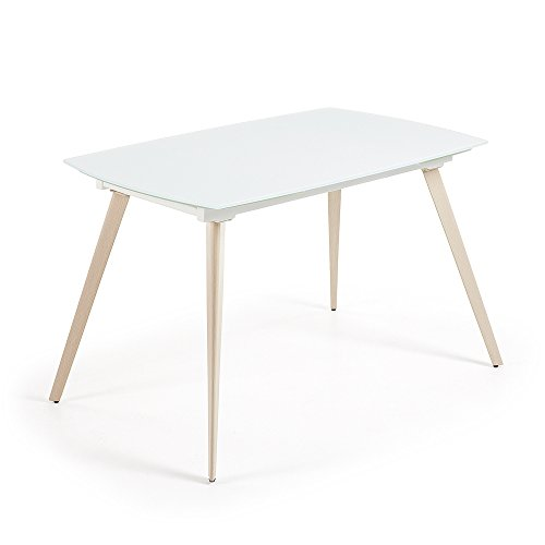 Kave Home Table extensible Smoth, 140 cm blanc