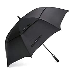G4Free 54/62 Inch Automatic Open Golf Umbrella Extra Large Oversize Double Canopy Vented Windproof Waterproof Stick Umbrellas