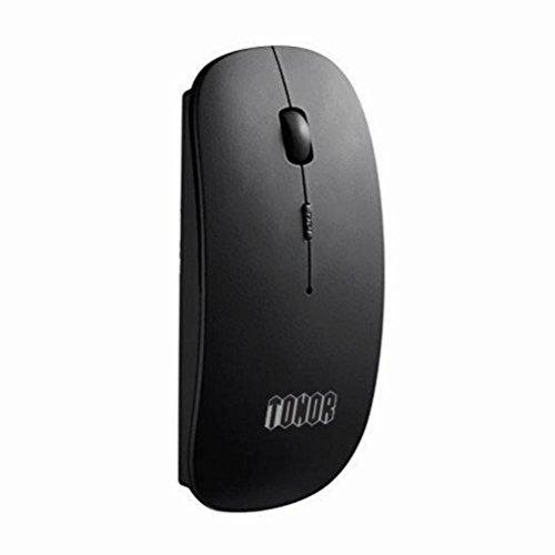Mini 3d Optische Maus (tonor wiederaufladbar Bluetooth Maus ultra dünn black-newest Vesion)