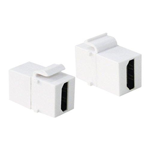 Multimedia Patch Panel (Faconet® Keystone Modul HDMI Buchse > Buchse Verbinder für Keystone Panel Oder Dose (5 Stck))