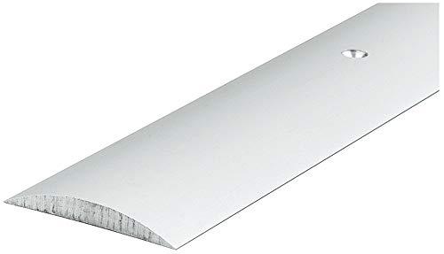 Gedotec Übergangsprofil silber Türschwelle Aluminium Halbrundschwelle rund für Innentüren 090 | Länge: 840 mm | Alu eloxiert | MADE IN GERMANY | 1 Stück - Übergangsschiene mit Befestigungsmaterial