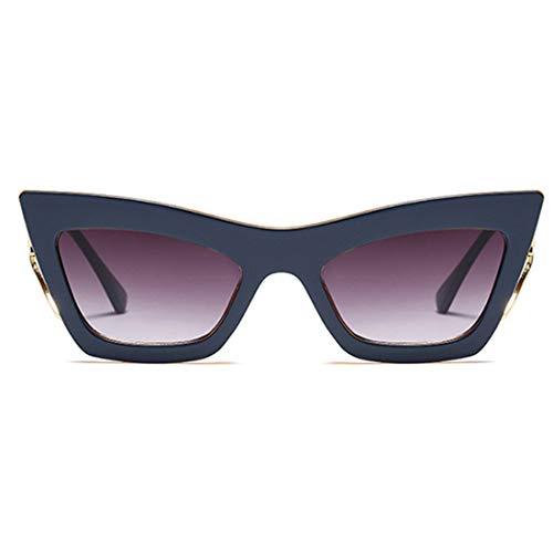 Lvminhm Big Frames Fashion Metal Cat Eye Sonnenbrille Weibliche Uv400 Gradient Color Lens,C5