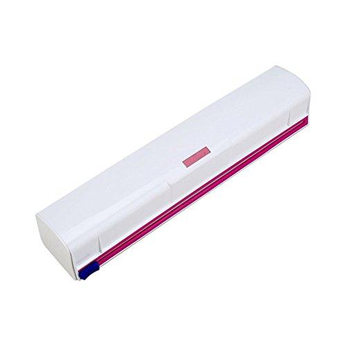 lzndeal Dispensador de Envoltura de Alimentos Plástico Cortador de Láminas de Cling Film Storage Holder Box Suministros de Cocina