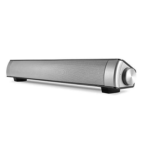 ROUHO Drahtlose Bluetooth-Lautsprecher Dual Units Stereo Soundbar Tf Card Aux-In Freisprech-Subwoofer-Schwarz