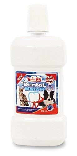 SwissPet Dental Wasser für Hunde, Hilft gegen Zahnstein und Mundgeruch, frischer - Zahnstein Hundefutter Gegen