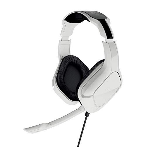 Gioteck SX6 Storm Stereo Gaming Headset, Multi-Plattform Kopfhörer, Kabelgebunden Wired, Noise-Cancelling Mikrofon, für PC, PS4, Xbox One, Nintendo Switch, Mac, weiß -