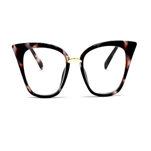 (DERTILP Sonnenbrille Sunglasses Glasses transparent lenses fake lenses ladies retro glasses frame acetic acid fiber glasses)
