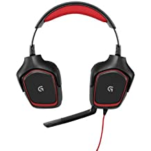 Logitech G230 Gaming Headset with Sound and Lightweight Design - Black/Red