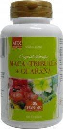 Hanoju - Maca + Tribulus + Guarana - 600 mg - 90 gélules