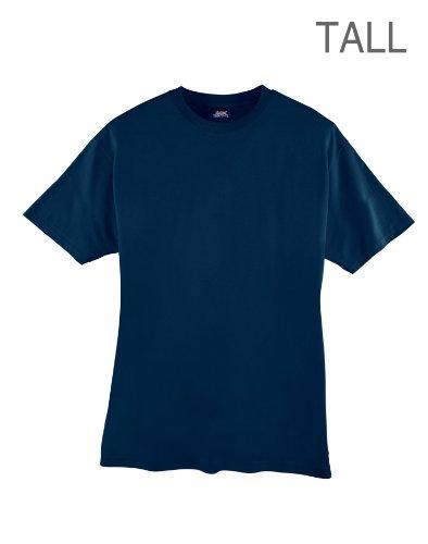 Hanes Men's Beefy-T Tall T-Shirt_Navy_4XT -