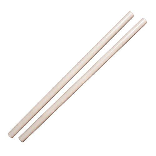 DEPICE 2er Pack Escrima Stock Rattan weiß gewachst 68 cm