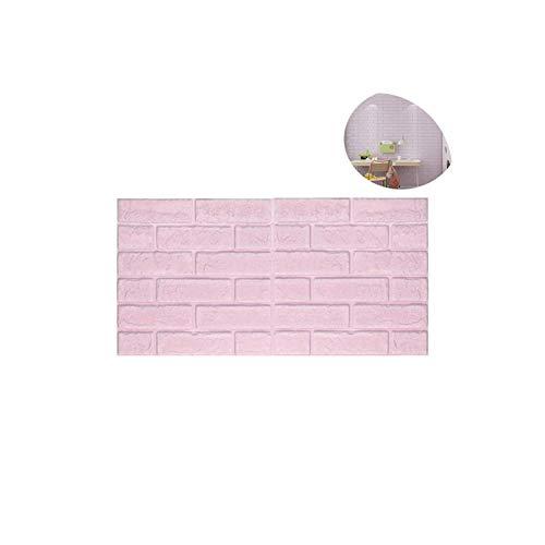 Strawberryran Dekorative Fliesen 3D Brick Wall Sticker Self-Adhesive wasserdichte Schaum Tapete Kunst-Wand-Dekor, Lavendel -